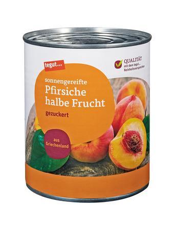 Darstellung von Pfirsiche halbe Frucht 850 ml