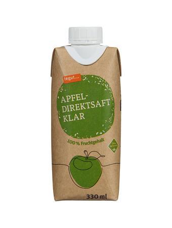 Darstellung von Apfel-Direktsaft klar
