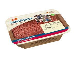 Darstellung von Schweine- und Rinder-Hackfleisch gemischt, zum Braten