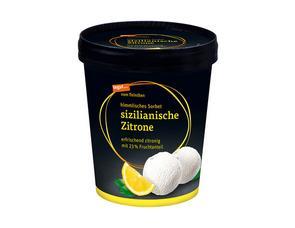 Darstellung von Sorbet sizilianische Zitrone