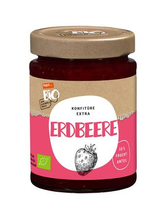 Darstellung von Bio Konfitüre extra Erdbeere
