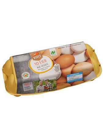 Darstellung von Bio 10 Eier aus Hessen