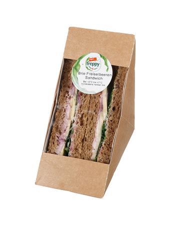 Darstellung von Brie Preiselbeeren Sandwich