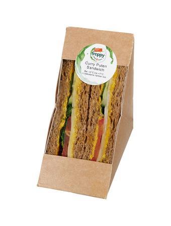 Darstellung von Curry Puten Sandwich