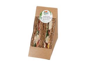 Darstellung von Sweet Chili Hähnchen Sandwich