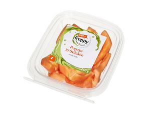 Darstellung von Papaya in Stücken