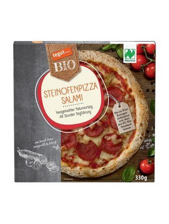 Darstellung von Steinofenpizza Salami