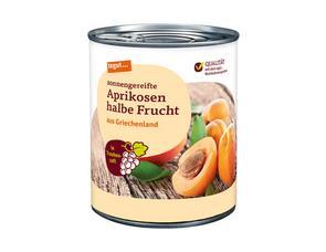 Darstellung von Aprikosen halbe Frucht in Traubensaft 850 ml