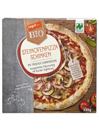 Darstellung von Steinofenpizza Schinken