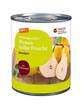 Darstellung von Birnen halbe Frucht 850 ml