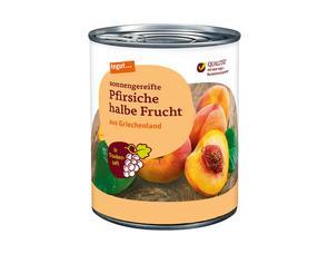 Darstellung von Pfirsiche halbe Frucht in Traubensaft 850 ml