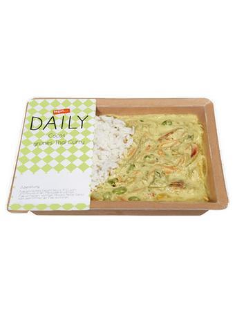 Darstellung von Cocos grünes Thai Curry