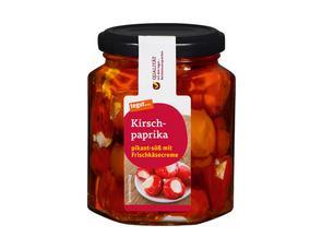 Darstellung von Kirschpaprika pikant-süß mit Frischkäsecreme