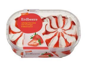 Darstellung von Eiscreme Erdbeere