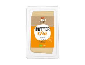 Darstellung von Butterkäse in Scheiben
