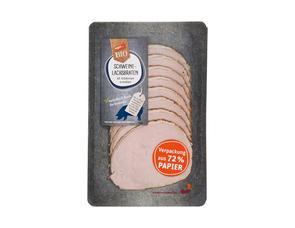 Darstellung von Frischepack Schweinelachs-Braten mit Kräuterrand