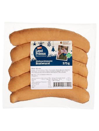 Darstellung von Weihnachtsmarkt Bratwurst