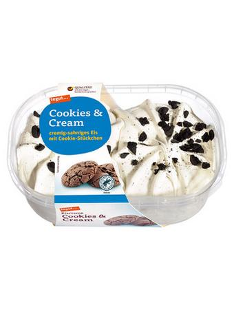 Darstellung von Eiscreme Cookies & Cream