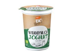 Darstellung von Weidemilch Joghurt 3,8% Fett