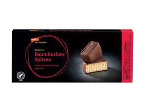 Darstellung von Baumkuchen-Spitzen in Zartbitterschokolade