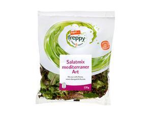 Darstellung von Salatmix mediterraner Art
