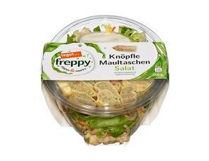 Darstellung von Knöpfle Maultaschen Salat