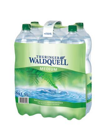 Darstellung von Thüringer Waldquell Mineralwasser medium 6er-Pack