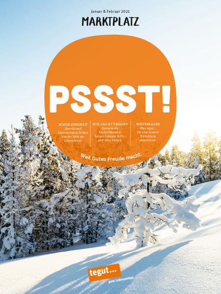 tegut... Kundenmagazin Marktplatz Januar/Februar 2021
