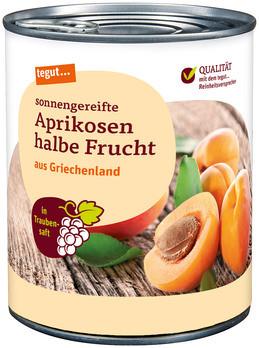 Aprikosen halbe Frucht in Traubensaft 850 ml