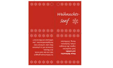 Etikett Geschenkanhänger Weihnachtssenf