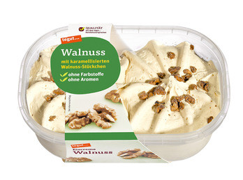 Eiscreme Walnuss