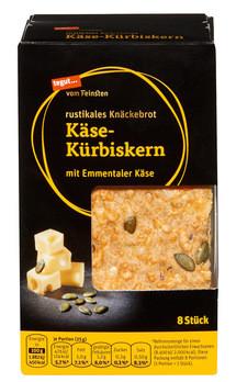 rustikales Knäckebrot Käse-Kürbiskern