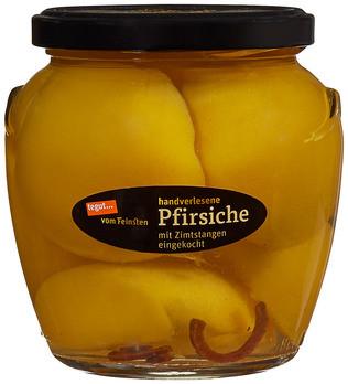 handverlesene Pfirsiche mit Zimt