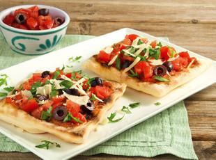 Schnelle Mini-Pizza vom Grill