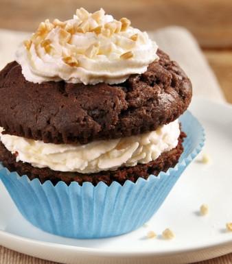 Schoko-Mandel-Cupcakes mit Marzipan