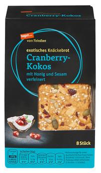 exotisches Knäckebrot Cranberry-Kokos