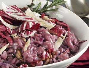 Radicchio-Risotto mit Parmesan
