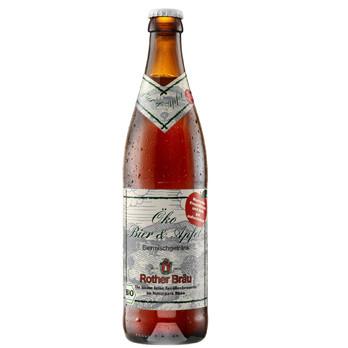 Rother Bräu Öko Bier und Apfel