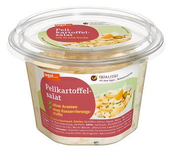 Pellkartoffelsalat mit Ei und Gurke
