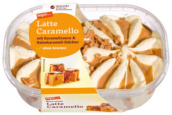 Eiscreme Latte Caramello