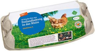 10 Eier aus Freilandhaltung in der Rhön