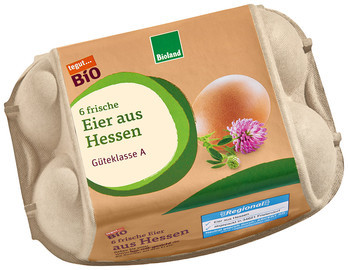 Bio Eier aus Hessen, 6 Stück