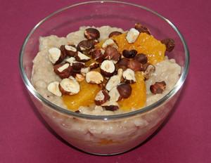 Orangen-Haselnuss-Milchreis