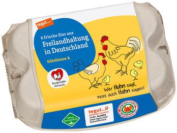 6 Eier aus Freilandhaltung in Deutschland Bruderhahn