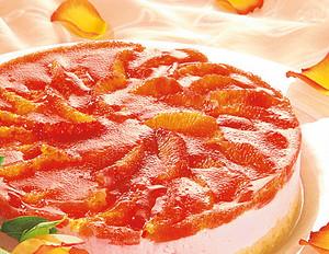 Blutorangen-Torte mit Frischkäse