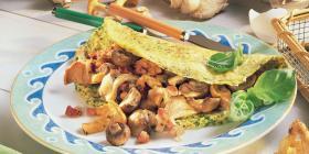 Pfifferling-Kräuter-Omelette