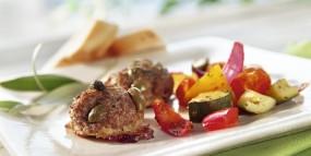 Frikadellen mit Ratatouille-Gemüse