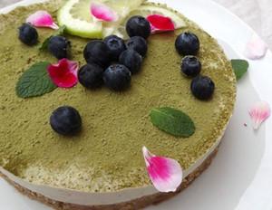 Matcha-Limette-Cashew-Cheesecake