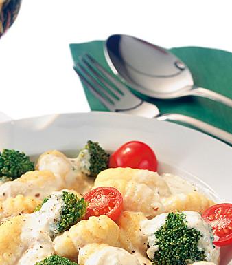 Brokkoli-Gorgonzola-Sauce zu Gnocchi