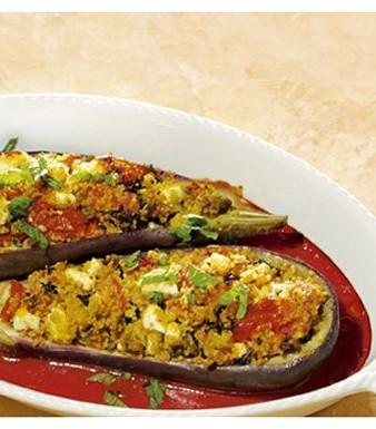 Gefüllte Auberginen mit Couscous